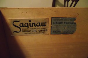 Furniture labels
